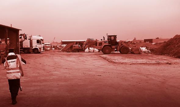 SEPS | GESTION ET VALORISATION DES DÉCHETS INDUSTRIELS | Plateforme de transit et traitement des déchets industrilels -3